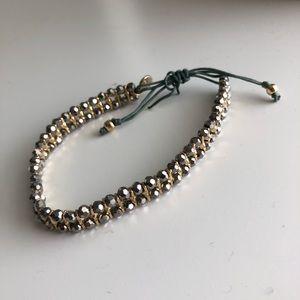 Stella & Dot adjustable crystal bracelet